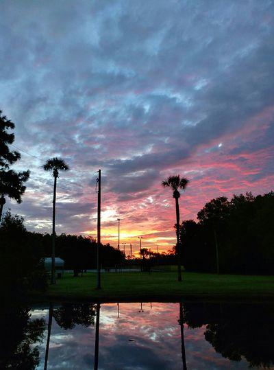 Sunrise over a