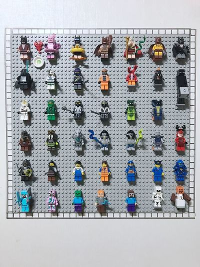 Multi Colored Variation Large Group Of Objects LEGO Collection Colors grid lego