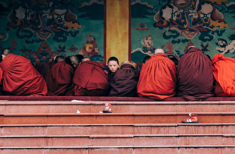 Reddish monks