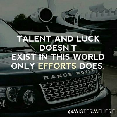 Talent and Luck doesn't exist in this world only efforts does. ↓ ↓ ↓ ↓ ↓ ↓ ↓ ↓ ↓ ↓ ↓ ↓ ↓ ↓ ↓ ↓ Check out @faxtify ●●●●●●●●●●●●●●●●●●●●●●●● Quote Quotes Lifequotes Quotestags Toptags Tumblrquotes Quoteoftheday Quotestagram Song Funny Funnyquotes Life Tweegram Instagood Quotesdaily Quotesgram Quotesofinstagram Love Photooftheday Igers Instagramhub TBT  ●●●●●●●●●●●●●●●●●●●●●●●●
