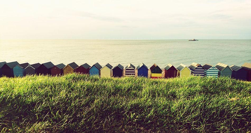 Beach Huts Herne Bay HerneBay Sony Xperia Z5 Compact Seaside Kent Coastline Beaches Of Eyeem