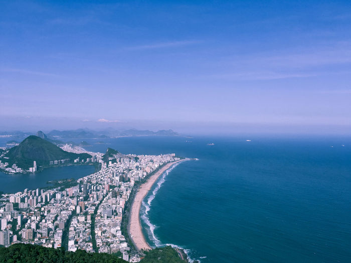 Rio de Janeiro sempre Lindo Architecture Sky Building Exterior Nature Scenics - Nature Cityscape Beauty In Nature Outdoors Sea Water Land Beach Coastline City High Angle View Aerial View No People Built Structure Horizon Blue Environment Horizon Over Water Bay