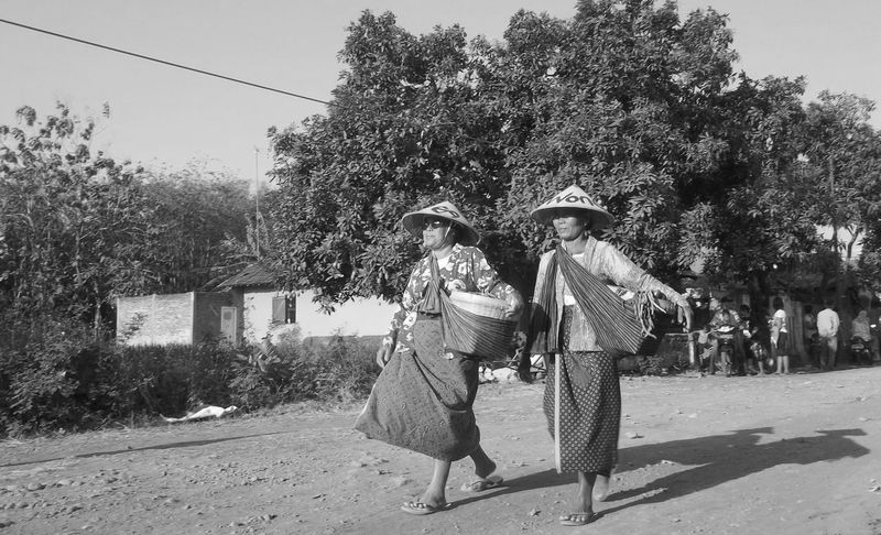 Java Clasiic Culture Black & White Classic Black And White Blackandwhite Classic Village Classic Photo Classic Photography Classic View Classic Vintage Day Full Length Leisure Activity Lifestyles Men Nature Outdoors People Real People Shadow Sky Standing Togetherness Tree Two People Women