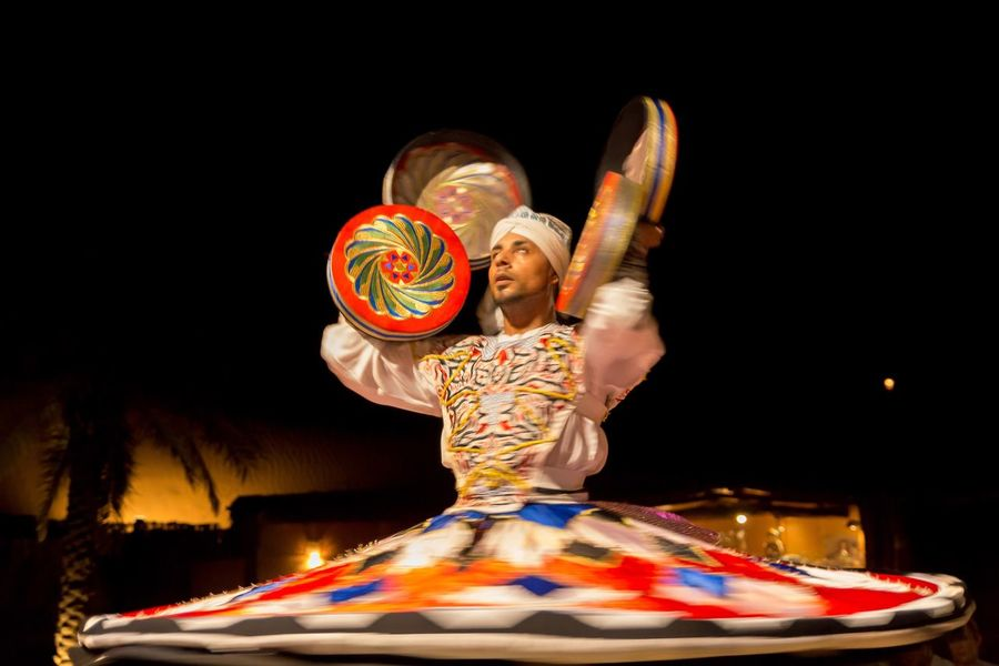 Illuminated Person Dancing Dubai Derwish Dance The Magic Mission