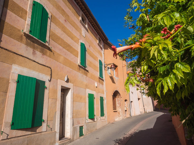 Passage in ochre colored village in Provence France Provence Architecture Color Colorful Medieval No People Ocre Passage Roussillon Street Town Village Ochre
