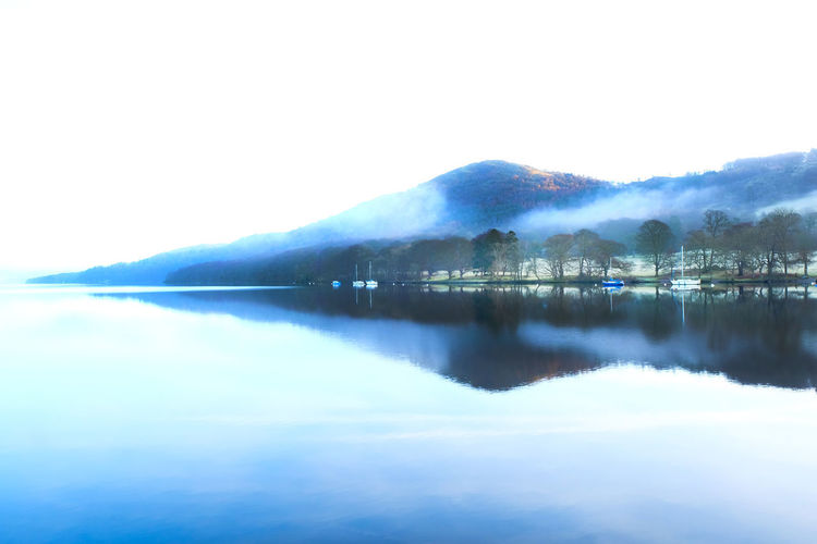 Arrow Beautiful Nature Lake District National Park Architecture Arrow Shape Beauty In Nature Blue Built Structure Day Fog Lake Lake View Misty Morning Mountain Nature No People Outdoors Reflection Scenics Sky Tranquil Scene Tranquility Water Waterfront Windermere