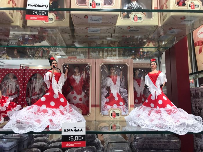 Ole! Flamenco Girl Red Gift Souvenir Dolls Dots España SPAIN Flamencas FLAMENCA Human Representation Representation Communication Decoration Celebration Red Gift Holiday First Eyeem Photo