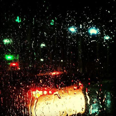 Rainy Days☔ Night Taking Photos Light Fromcarwindow