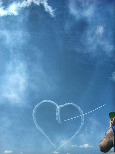 Heart Shape Air Festival Taking Photos Sky Acrobatics