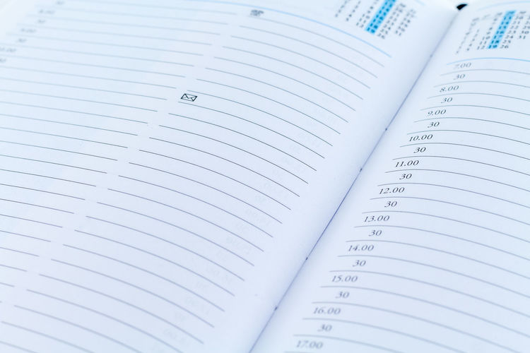 Agenda Diary Date Planner Page Date Leather Planning Work Agenda Business Finance And Industry Close-up Communication Day Daylight Diary Indoors  Month No People Number Page Paper Planner Remeber Week White