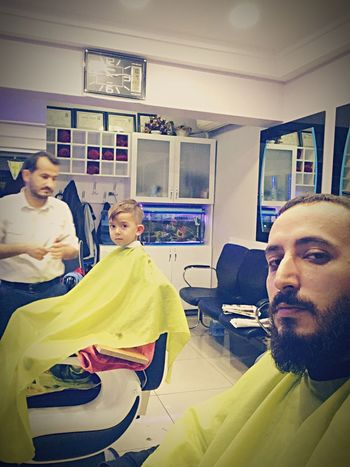 My son and me haircut