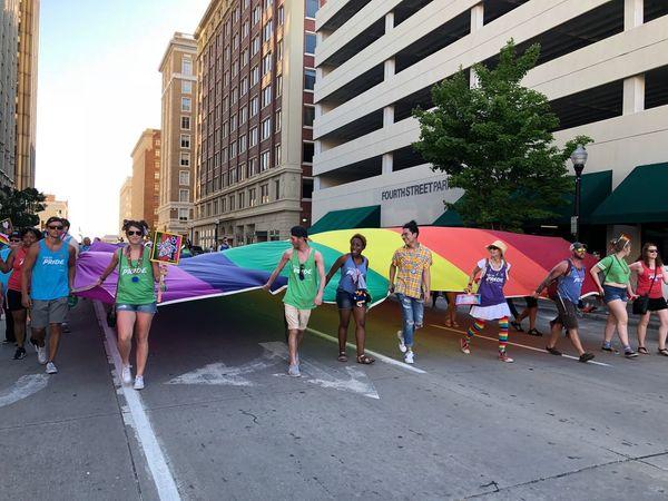 Pride Parade Tulsa VSCO Vscocam Gay Pride Parade Gay Parade Building Exterior Built Structure
