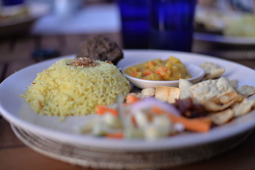 Jul'17: The Andaman, a Luxury Collection Resort, Langkawi (Kedah, Malaysia) Curry Ghee Rice Langkawi Malay Cuisine Malaysia Photography Malaysia Truly Asia Malaysian Food Pulau Langkawi Pulau Langkawi , Malaysia Close-up Day Food Food And Drink Freshness Healthy Eating Indoors  Kedah Kedah Malaysia Langkawi Island Langkawi Island Malaysia Local Cuisine Malay Food Malaysia Malaysia Scenery Malaysian Malaysianfood Malaysianphotographer Nasi Minyak No People Pickle Pickles Plate Popadom Ready-to-eat EyeEmNewHere Food Stories Colour Your Horizn