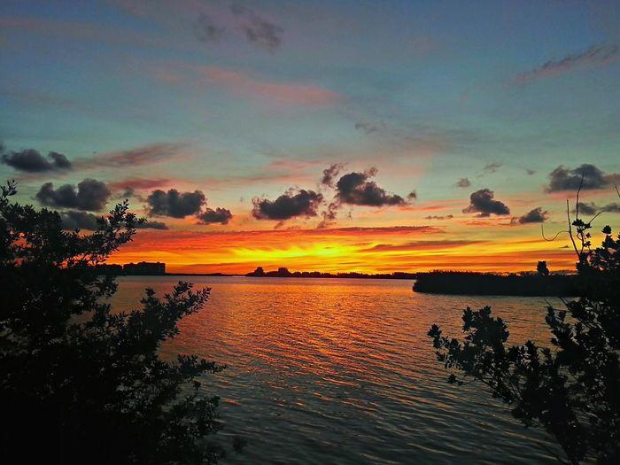 Sunset Clouds & Sky Cancun Beautiful Orange Nichupte Lagoon