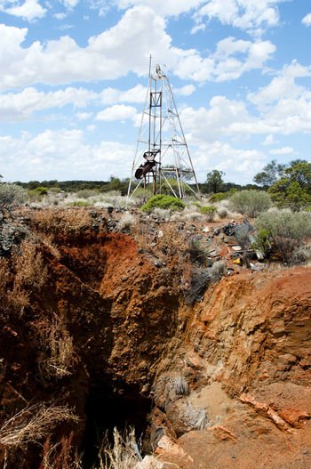 Old Gold Rush Mine Shaft Australia GOLD RUSH Mine Shaft Outback Mining
