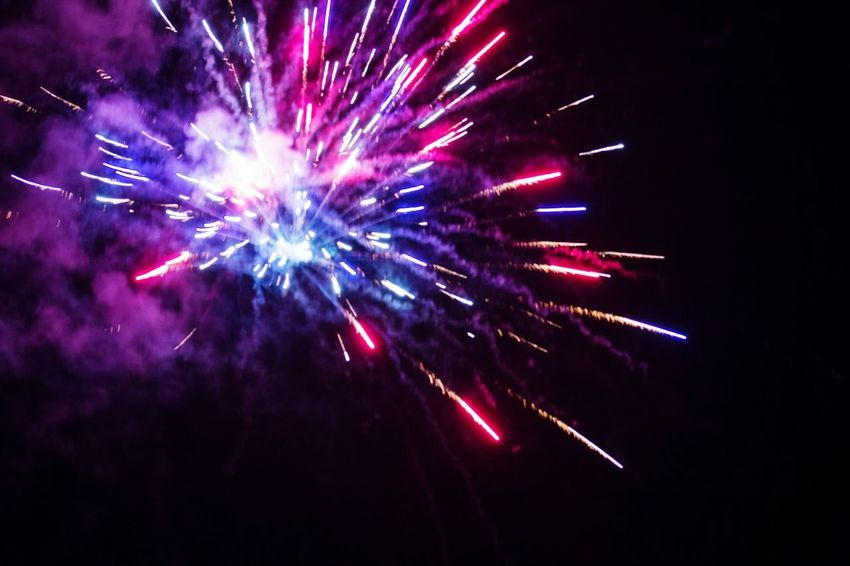 Red, white, and blue Multi Colored Arts Culture And Entertainment Firework Display Party - Social Event Celebration Firework - Man Made Object Event Celebration Event Exploding Illuminated Entertainment Long Exposure Light Trail Glowing Light Painting Sparks Sparkler Firework