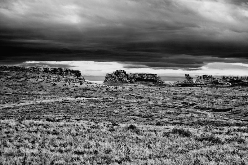Rock formations on horizon North Of Keeline Wyoming Rock Formations Outdoors Nature Landscape Cloud - Sky Beauty In Nature Day No People