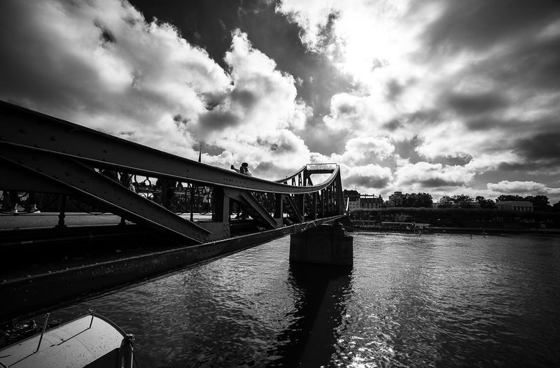 Instagood Instamoment Follow4follow Instafollow Followforfollow Nikon Followers Fotografia Nikond750 Francfort Nikonitalia Photooftheday Blackandwhite Biancoenero Blackandwhitephotography Photographer Skyscraper Skyscrapers Photo Photograph Samyang Germania Photography Samyang14mm Streetphoto Blackewhite Landscapephotography Nikontop_#streetphotography City Water Bridge - Man Made Structure River Sky Built Structure Cloud - Sky Suspension Bridge Bridge Arch Bridge Place Of Interest Skyline Steel Cable Bay Cityscape Footbridge Arch Chain Bridge Bascule Bridge Railway Bridge