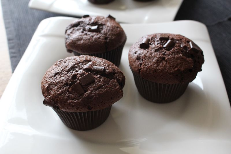 Close-up of muffins on plate