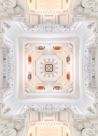 White Color Ceiling Ornate Elégance Architecture Lookup Centrocentrocibeles Madrid SPAIN ArtWork City City Hall The Week On EyeEm Pattern Pattern, Texture, Shape And Form EyeEm Best Edits EyeEm Best Shots EyeEmBestPics Centro Centro