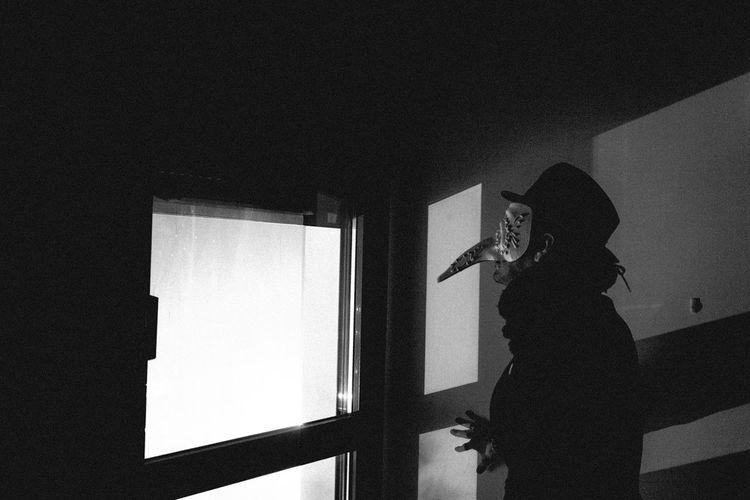 Dark Mask Creepy Hat Voyeurismus