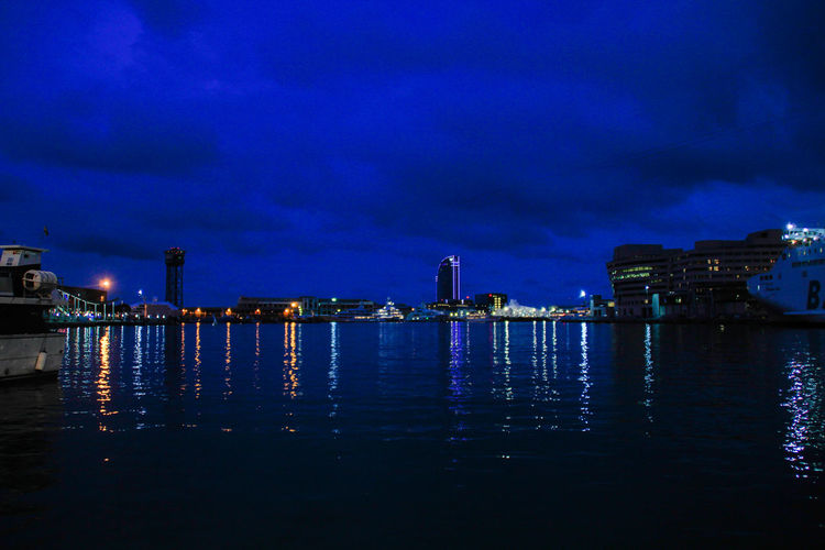 Barcelona BARCELONA PORT Barcelona Sea Blue Sky Night Port Sea Sea And Sky