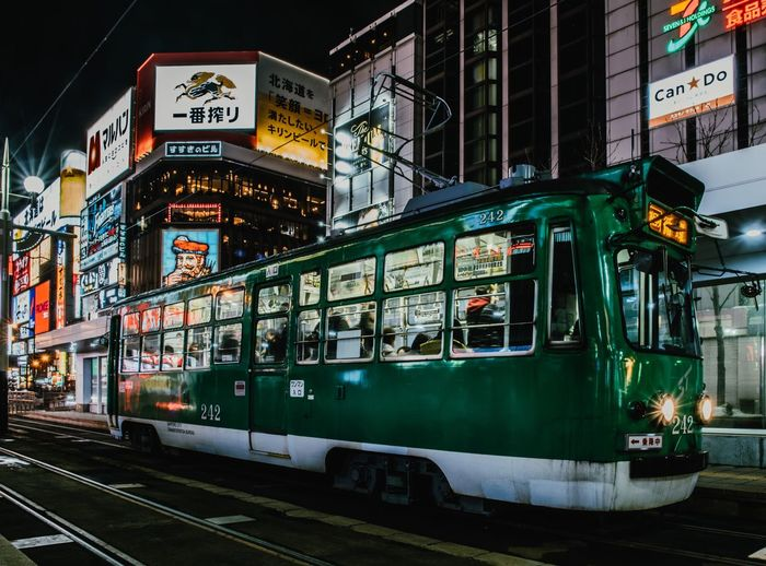 Japan - 日本 Train EyeEm Gallery EyeEmNewHere EyeEm Nature Lover EyeEm Best Shots Vscocam VSCO Nikon Travel Destinations Photography Japan Transportation Illuminated Public Transportation Mode Of Transport Building Exterior Night City