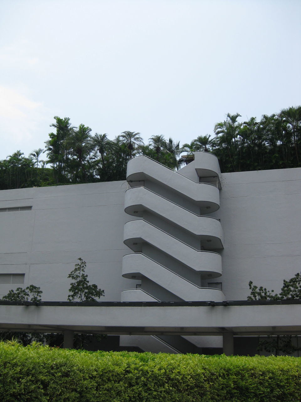 Low Angle View Of Staircase In Building Against Sky