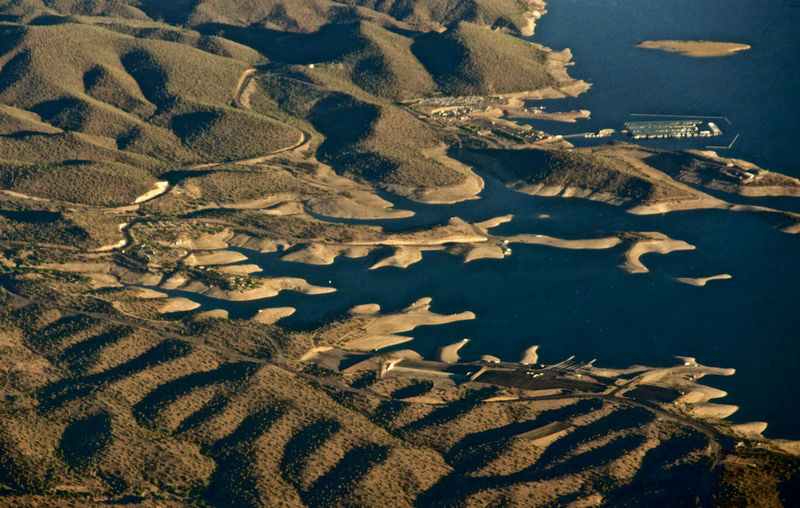 Flying over Lake Pleasant Aerial Photography Aerial View Beauty In Nature Day Landscape Nature No People Outdoors Scenics Water