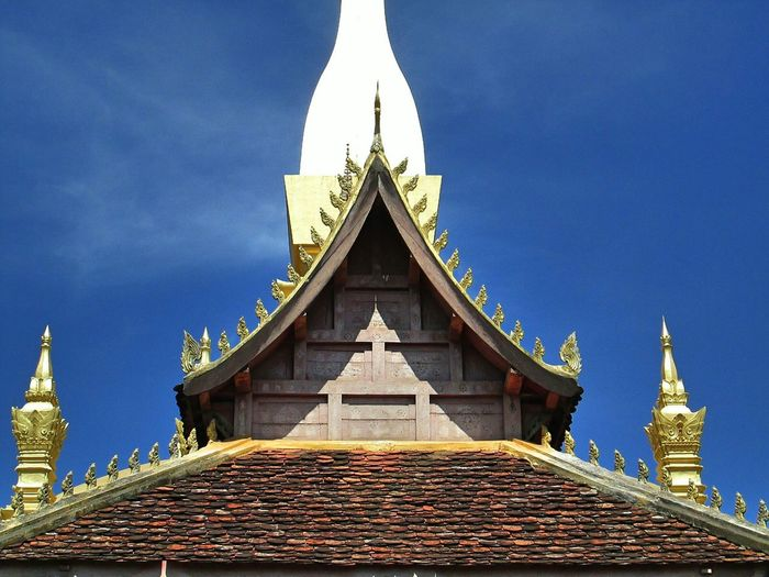 Low Angle View Of Pha That Luang Against Sky
