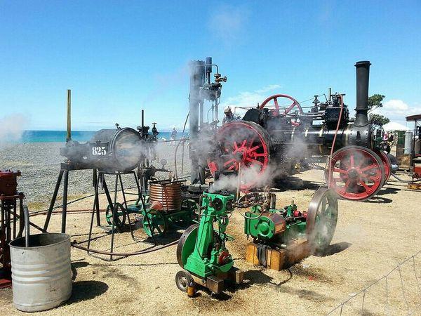Napier Art Deco Steam Engine Sky Beach