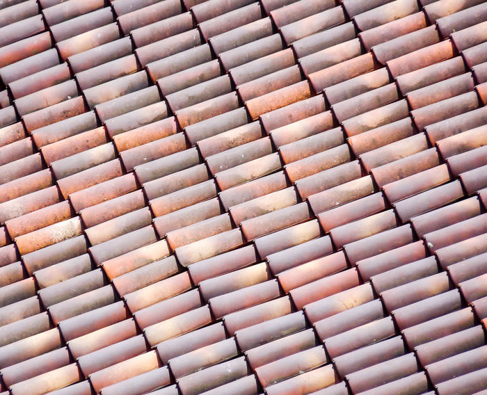 Roof Tiles Architecture Backgrounds Close-up Day Full Frame High Angle View Horizontal Italy Lines Looking Down No People Outdoors Pattern Roof Roof Tiles Terracotta Tiles