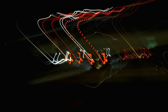 """""""Highway light painting, No. 1"""" (2015) Abstract Oddities Trippy Photo Trippyshit Tricky Pic Abstract Art Night Photography Light In The Darkness Light Painting Lights In The Dark Lightstreaks Lightshow"""