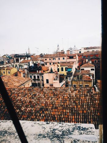 Aerial Shot looking over the streets of Venezia from Casanova's prison cell window Cityscapes Travel Photography Travelling History Getty X EyeEm Gettyimages Pastel Colours