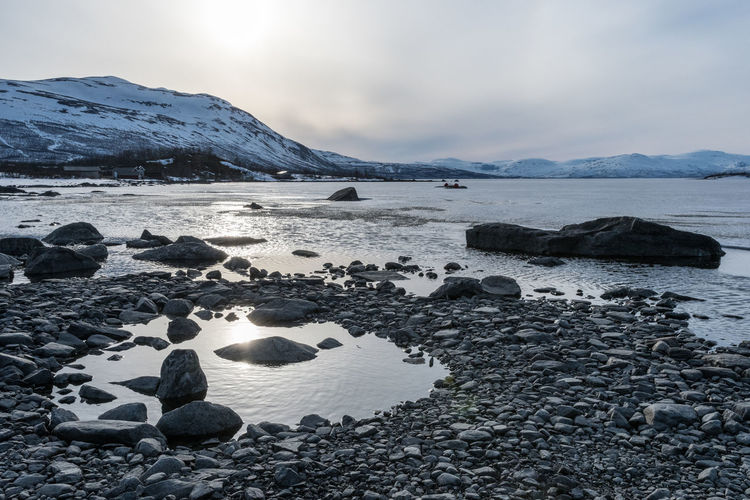 Abisko Shore 4 Abisko Beauty In Nature Cloud - Sky Cold Temperature Day Iceberg Mountain Nature No People Outdoors Scenics Sea Sky Snow Sunset Sweden Tranquil Scene Tranquility Water Winter