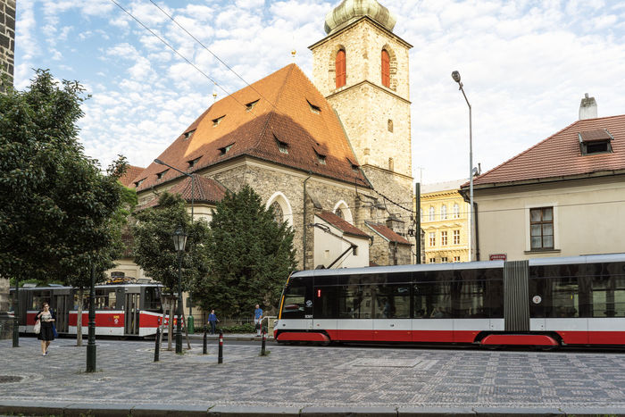 Views of the main monuments and streets of Prague, in the Czech Republic Architecture Bohemian Building Exterior Built Structure Capital Cities  City Cloud - Sky Day European  History Architecture Landscape Nature No People Outdoors Prague Czech Republic Public Transportation Sight Sityscapes Sky Streetphotography Travel Destinations Tree