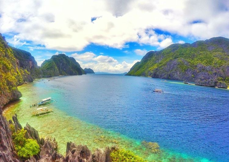 Cloud - Sky Beach Nature Sea Beauty In Nature Outdoors Scenics Vacations Mountain Tree Landscape Sky Water Itsmorefuninthephilippines Travel Destinations Pinoy VacationsDay Palawan Philippines Islands Palawan Philippines Elnido Worldsbestisland No People Wave