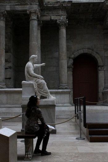 Museum Miletos Ancient City Berlin Pergamonmuseum Statue Marble City Full Length Women Sitting Arch History Architecture Architectural Column Civilization Sculpture Human Representation Sculpted Historic