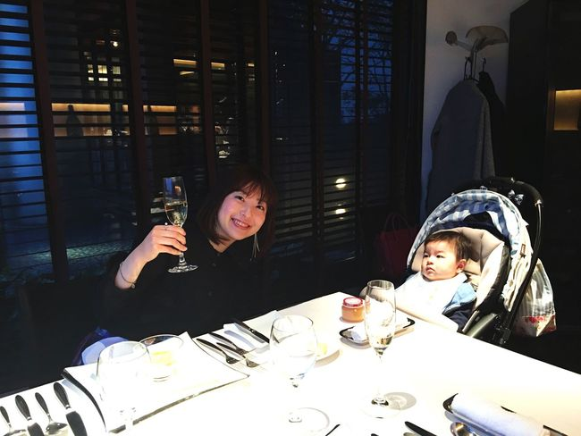 I also drank champagne after nursing him🍾 😋 Drinking Whiteday Family Time Family❤ Mother And Son Whiteday Thankyou Champagne French