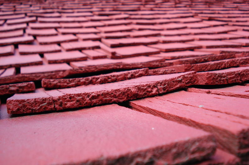 Close-up Textured  Architecture Pattern Red Roof