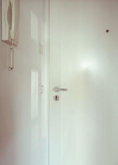 View of white door