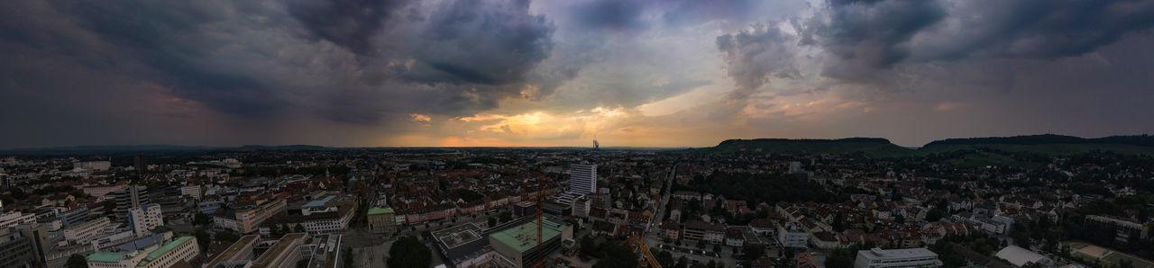 City sunset Heilbronn Mavic Pro Sunset Cloud - Sky Deepfield Farview City Cityscape Sunset Urban Skyline Business Finance And Industry Dramatic Sky Sky Panoramic Skyline