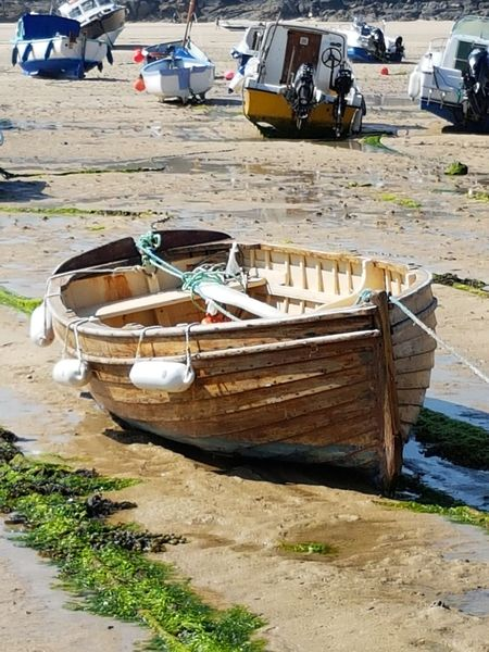 Mode Of Transport Nautical Vessel Sand Moored Outdoors Day No People St Ives Harbour Sunlight
