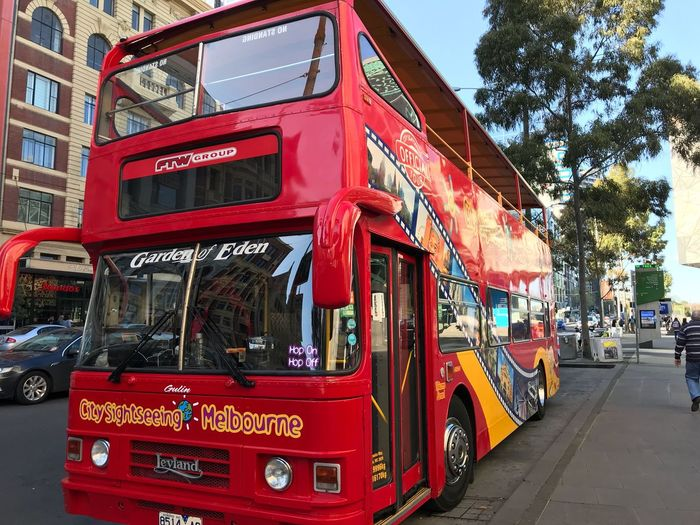 Tourbus Tour Bus City Melbourne Melbourne City City Sightseeing Bus City Sightseeing Red Bus Red Tour Bus Taken With IPhone7plus