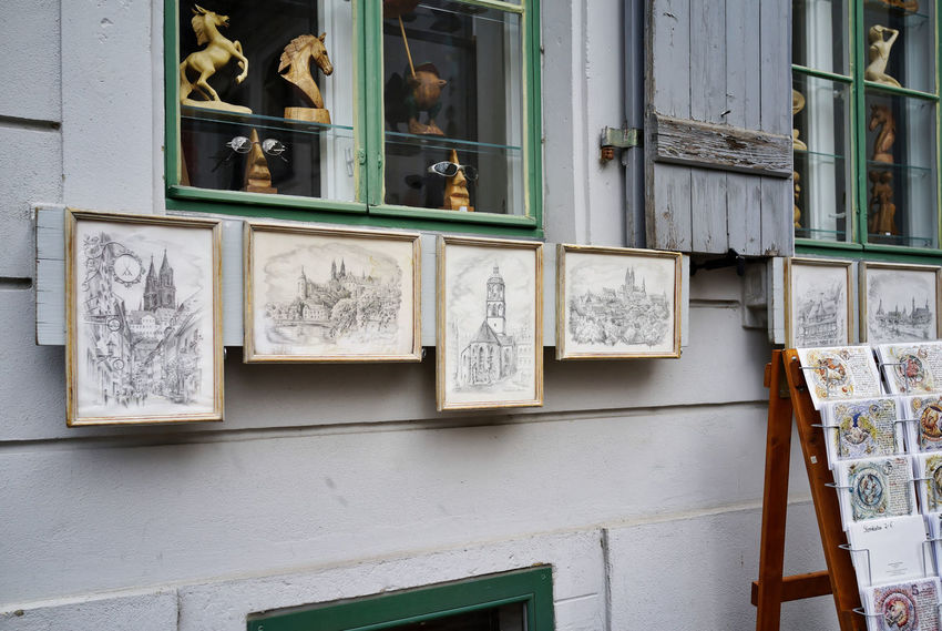 Souvenirs ✨... Architecture Art And Craft Building Exterior Built Structure Day Grafika Human Representation No People Outdoors Sculpture Statue Window