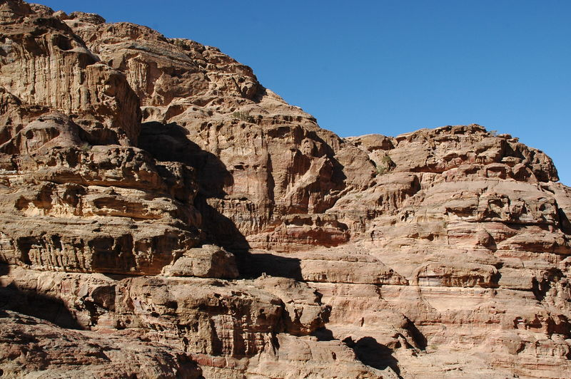 The archaeological site of petra in jordan
