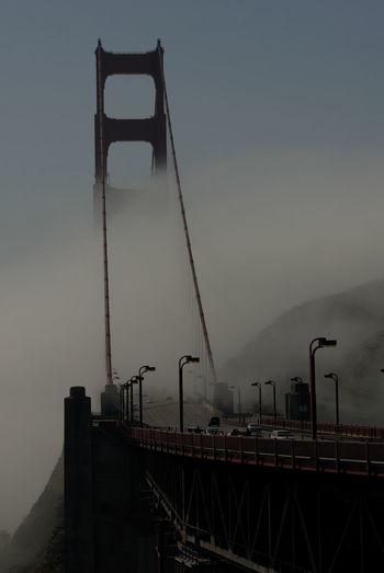 Bridge Connection Construction Fog Fog_collection Frisco Golden Gate Bridge San Francisco Bay