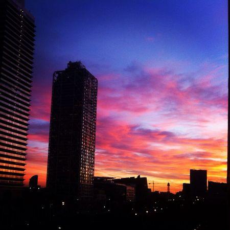 Barcelona Sky Sunset Beautiful