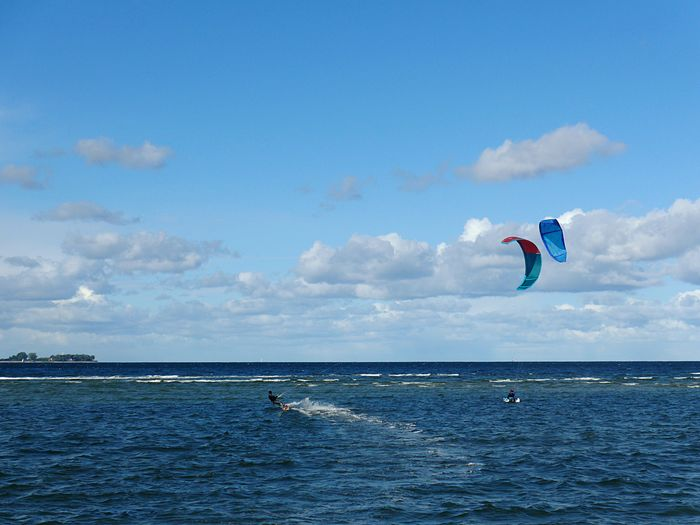 Kitesurfing Sky Water Sea Cloud - Sky Blue Nature One Person Sport Motion Horizon Over Water Leisure Activity Scenics - Nature A New Beginning