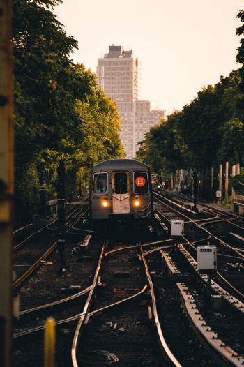 NYC New York City Photography Urban Sunset Subway Transportation Architecture Rail Transportation Railroad Track Track Train